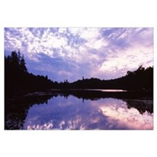 Reflection of clouds in a pond, Twin Pond, Old For