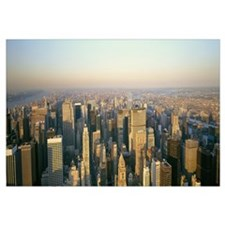 Aerial view of a city, New York City, New York Sta