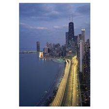 City at the waterfront, Lake Michigan, Chicago, Co