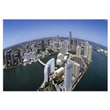 Aerial view of a city, Miami, Miami Dade County, F