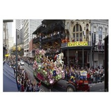 People celebrating Mardi Gras festival, New Orlean