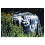 Waterfall in a park Middle Falls Genesee Letchwort