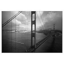 High angle view of a bridge across the sea Golden