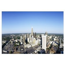 Aerial view of a city Charlotte Mecklenburg County