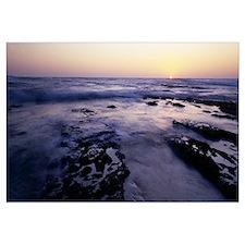 Waves in the sea Childrens Pool Beach La Jolla Sho