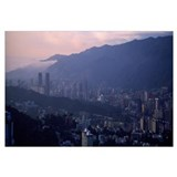 High angle view of a city Caracas Venezuela 2010