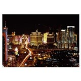 City lit up at night Las Vegas Nevada