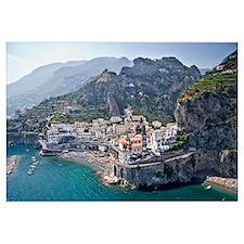 Town at the waterfront Amalfi Atrani Amalfi Coast
