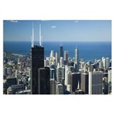Aerial view of a city, Lake Michigan, Chicago, Coo