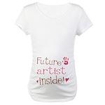 Future Artist Pink Maternity T-Shirt