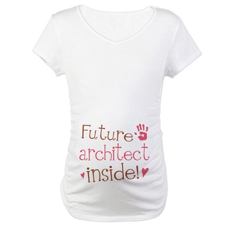 Future Architect Pink Maternity T-Shirt