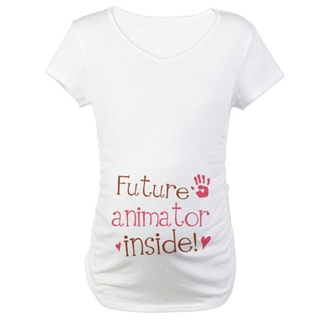 Future Animator Pink Maternity T-Shirt