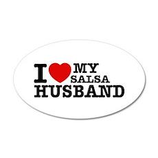I love my Salsa Husband 38.5 x 24.5 Oval Wall Peel