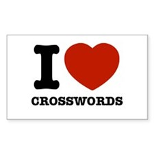 I love Crosswords Decal