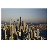 High angle view of a city, Seattle, Washington Sta