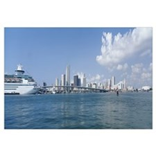 Buildings on the waterfront, Biscayne Bay, Miami,