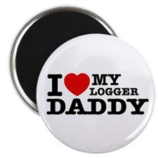 "I love my Logger Daddy 2.25"" Magnet (100 pack)"
