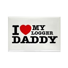 I love my Logger Daddy Rectangle Magnet (100 pack)
