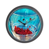 Glass of Hearts Wall Clock