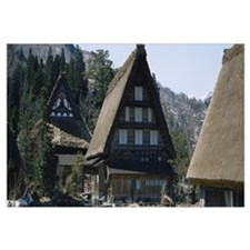 Houses in a village, Shirakawa, Gifu Prefecture, J