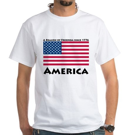 America Freedom White T-Shirt