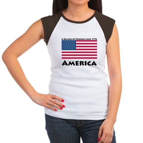 America Freedom Women's Cap Sleeve T-Shirt
