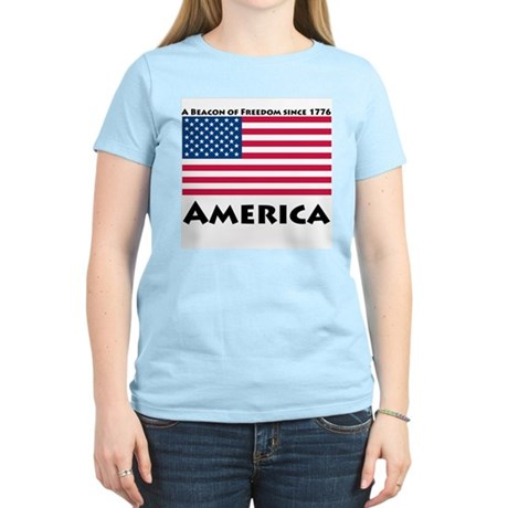 America Freedom Women's Light T-Shirt