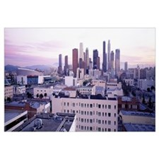 California, Los Angeles, High angle view of the ci