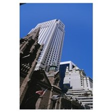 Low angle view of buildings, Manhattan, New York C