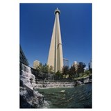Low angle view of a tower, CN Tower, Salmon Founta