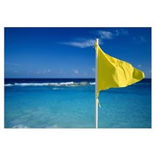 Yellow Swim Flag Cancun Mexico