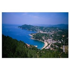 High angle view of a bay, Llafranc, Costa Brava, S