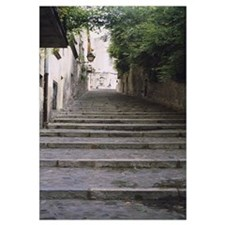 Narrow staircase to a street, Girona, Costa Brava,