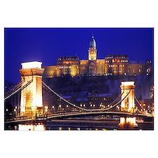 Chain Bridge Royal Palace Budapest Hungary