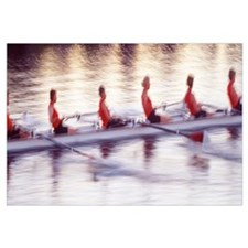 Women rowing boat