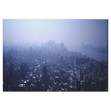 New York, New York City, Smog Over New York