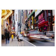Traffic on the street, 42nd Street, Manhattan, New