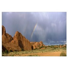 Rainbow over Devil's Garden Arches National Park U