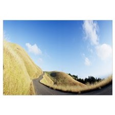 Curved road on the mountain, Marin County, Califor