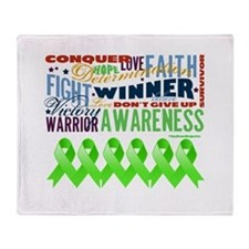 Non-Hodgkins Lymphoma Throw Blanket