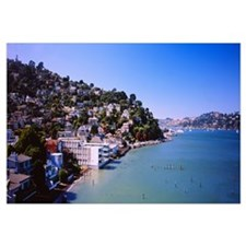 City at the coast, Sausalito, Marin County, Califo
