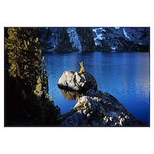 Rocks in a lake, Thousand Island Lake, Ansel Adams