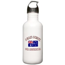 I can drink for Australia Water Bottle