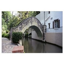Bridge across a river connecting a theater, Arneso