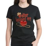 Walter Lassoed My Heart Women's Dark T-Shirt