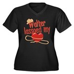 Walter Lassoed My Heart Women's Plus Size V-Neck D