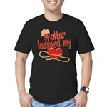 Walter Lassoed My Heart Men's Fitted T-Shirt (dark