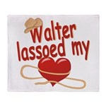 Walter Lassoed My Heart Throw Blanket