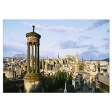 City, Dougald Stewart Monument, Edinburgh, Scotlan