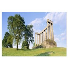Monuments on a landscape, Calton Hill, Edinburgh,